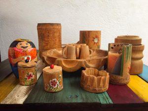 Objetos fabricados en guadua en el Quindío
