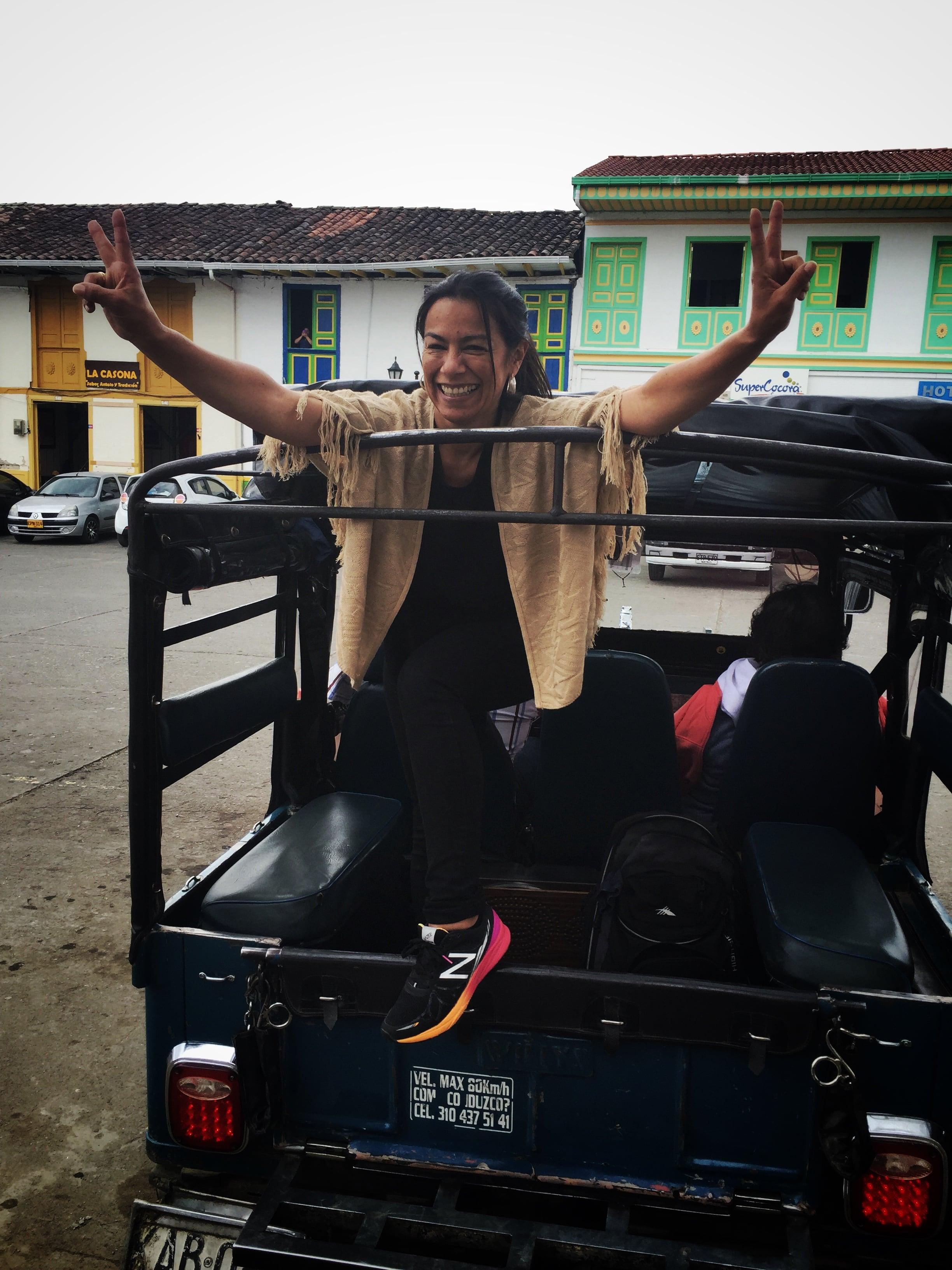 Jeep Willyz para ir hasta el Valle de Cocora