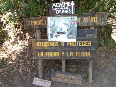 entrada reserva natural Acaime Herencia Verde