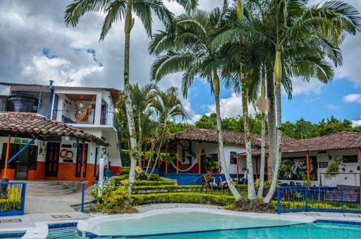 Hotel cerca Parque del Café