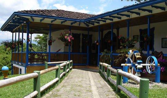 casa típica campesina Parque Nacional del Café