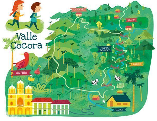 Mapa Excursiones Valle de Cococra