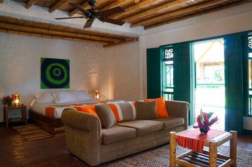 Habitación hotel Hacienda Bambusa - mejores alojamientos El Caimo Quindío
